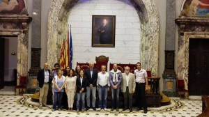 The Partners of the EVANDE project hosted and guided at the Town Hall of Valencia
